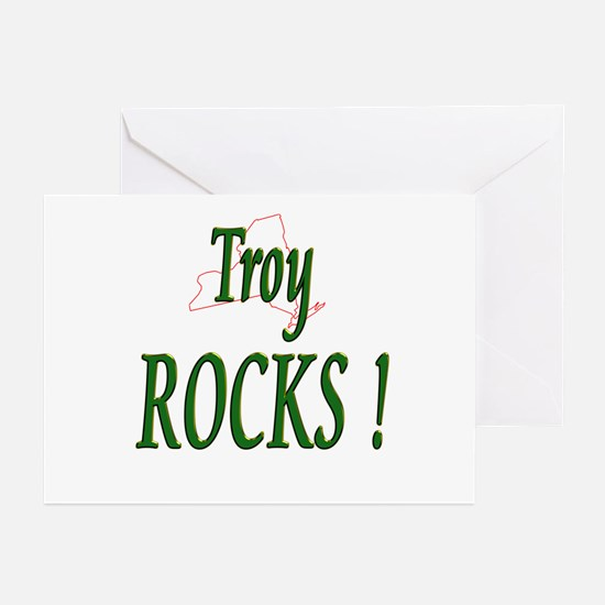 Troy Rocks ! Greeting Cards (Pk of 10)