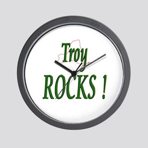 Troy Rocks ! Wall Clock