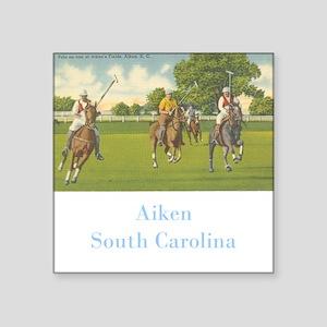 "Aiken Polo Square Sticker 3"" x 3"""