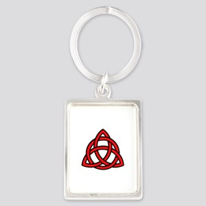 Celtic Knot Red Portrait Keychain