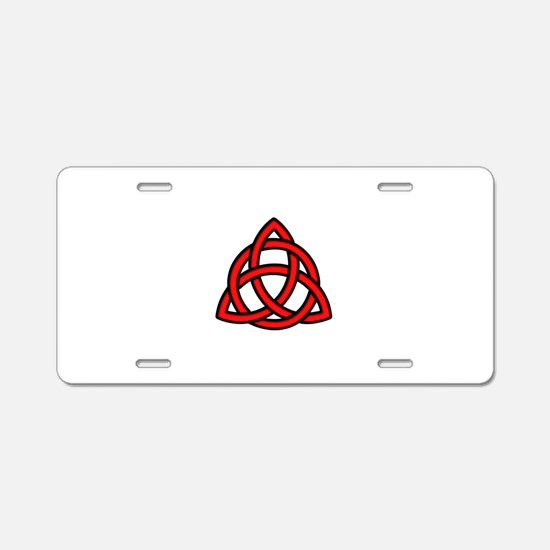 Celtic Knot Red Aluminum License Plate