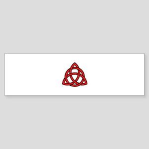 Celtic Knot Red Sticker (Bumper)