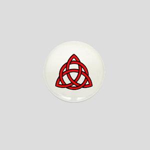 Celtic Knot Red Mini Button