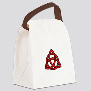 Celtic Knot Red Canvas Lunch Bag