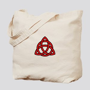 Celtic Knot Red Tote Bag