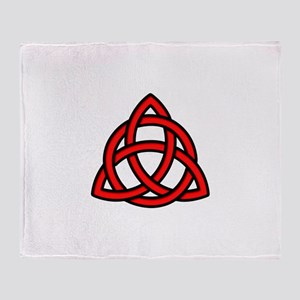 Celtic Knot Red Throw Blanket