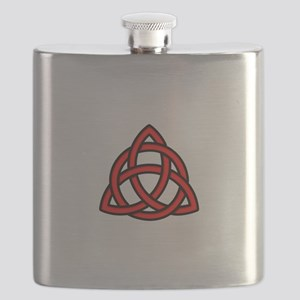 Celtic Knot Red Flask