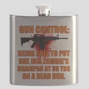 Zombie gun control Flask