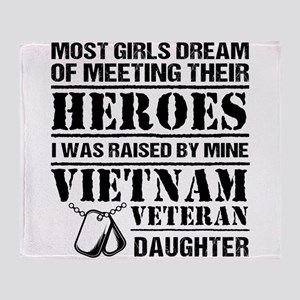 Vietnam Veteran Daughter Throw Blanket