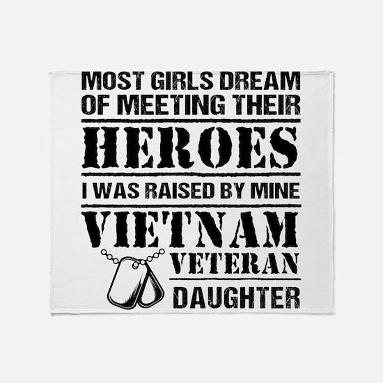 Vietnam Veteran Daughter Throw Blanket
