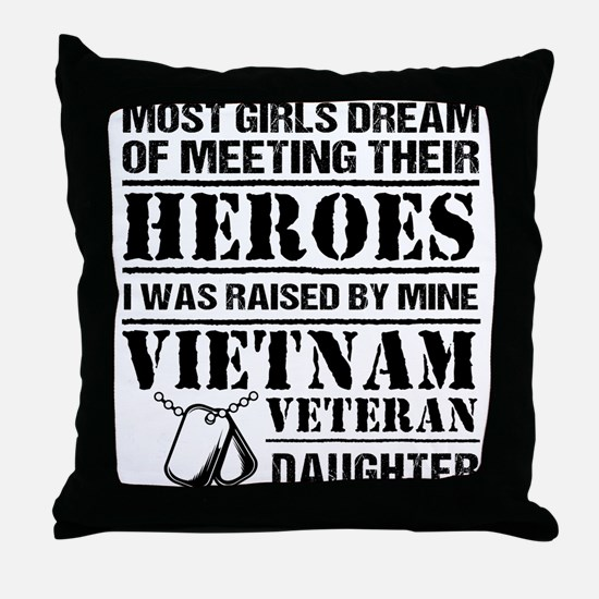Vietnam Veteran Daughter Throw Pillow