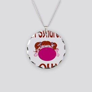Rett Syndrome Blows! Necklace Circle Charm