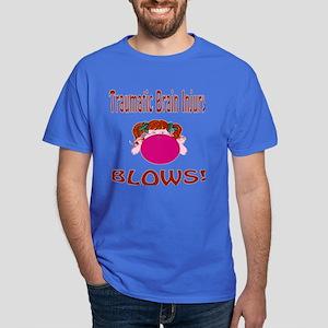 Traumatic Brain Injury Blows! Dark T-Shirt