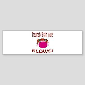 Traumatic Brain Injury Blows! Sticker (Bumper)