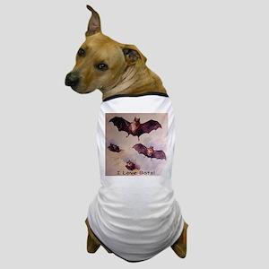 I Love Bats! Dog T-Shirt