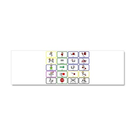 20 Core Words Communication Board Car Magnet 10 x by