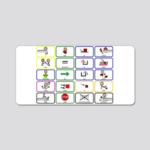 20 Core Words Communication Board Aluminum License