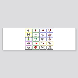 20 Core Words Communication Board Sticker (Bumper)