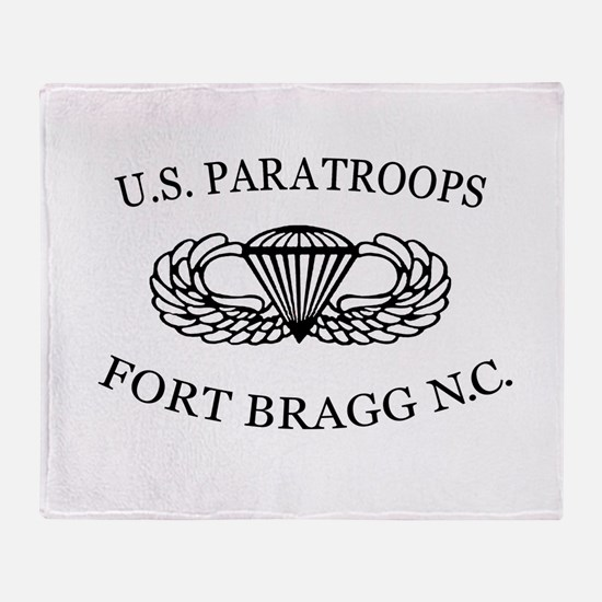Cute Military airborne Throw Blanket