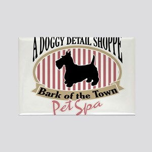 Bark of the Town Rectangle Magnet
