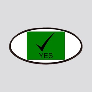 Yes Symbol with Checkmark Patches