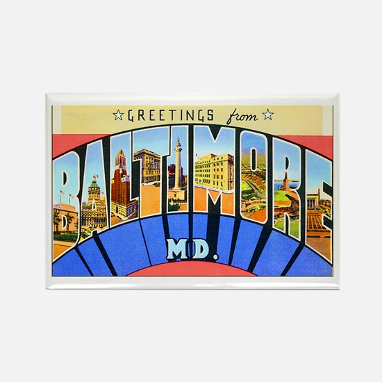 Baltimore Maryland Rectangle Magnet