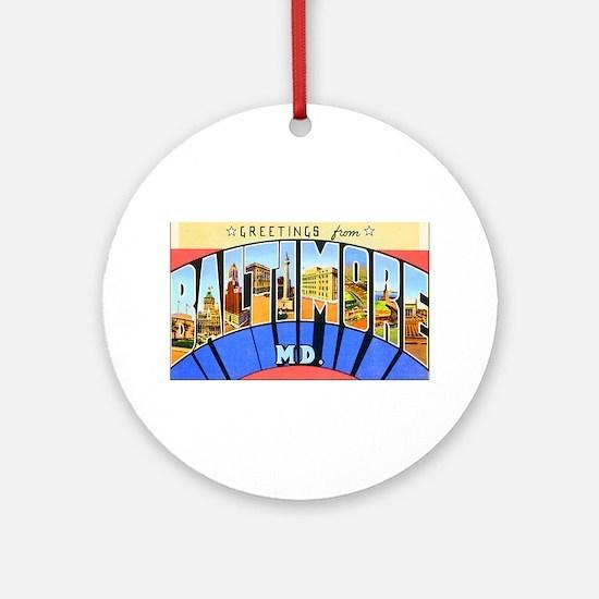 Baltimore Maryland Ornament (Round)