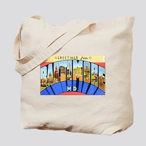 Baltimore Maryland Tote Bag