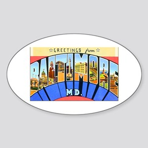Baltimore Maryland Oval Sticker