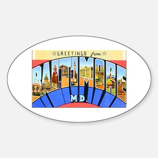 Baltimore Maryland Oval Decal
