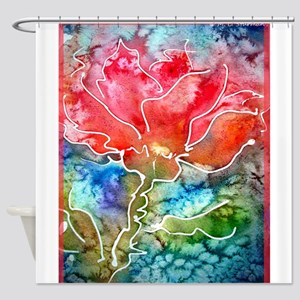 Flower! Bright floral art! Shower Curtain