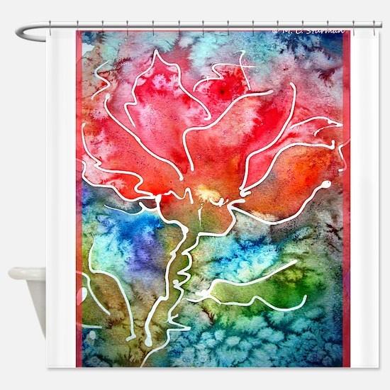 Flower! Bright floral art! Shower Curtain