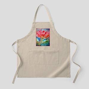 Flower! Bright floral art! Apron