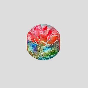 Flower! Bright floral art! Mini Button