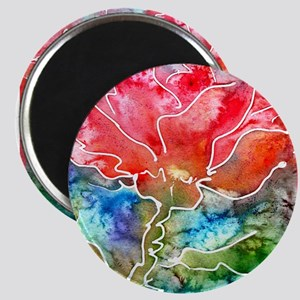 Flower! Bright floral art! Magnet