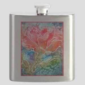 Flower! Bright floral art! Flask