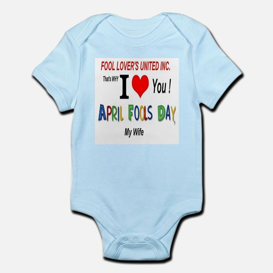 April Fools Day Wife Infant Bodysuit