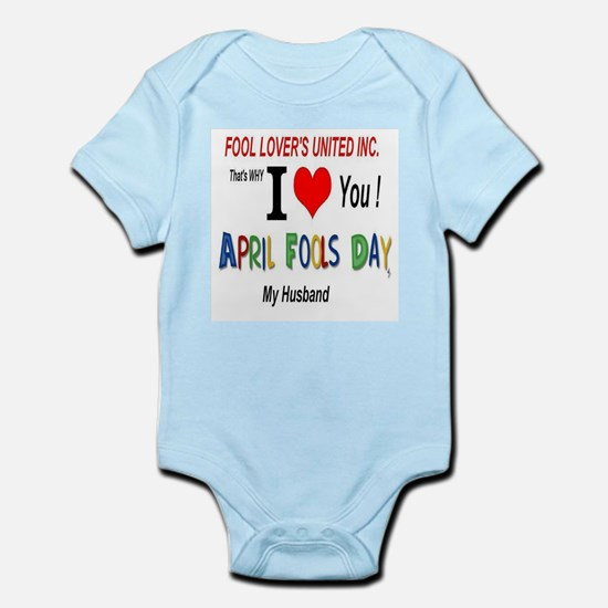 April Fool Husband Infant Bodysuit