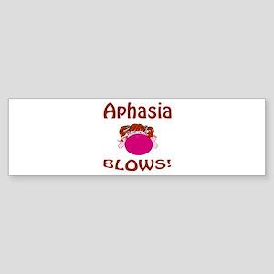 Aphasia Blows! Sticker (Bumper)