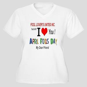 April Fool Friend Women's Plus Size V-Neck T-Shirt