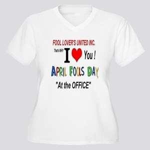 April Fool At The Office Women's Plus Size V-Neck