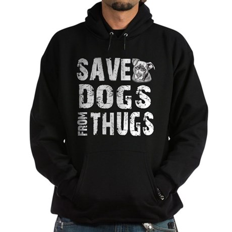 Save Dogs from Thugs Hoodie (dark)
