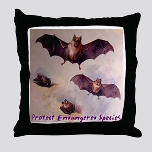 Bats Protect Endangered Speci Throw Pillow