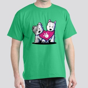 Valentine Westies Dark T-Shirt