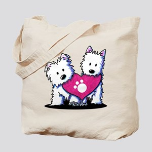 Valentine Westies Tote Bag