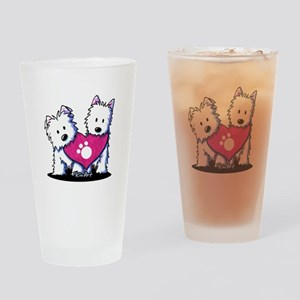 Valentine Westies Drinking Glass