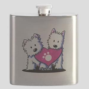Valentine Westies Flask