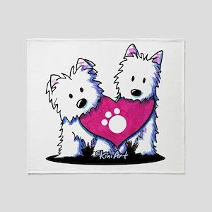 Valentine Westies Throw Blanket