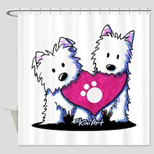 Valentine Westies Shower Curtain