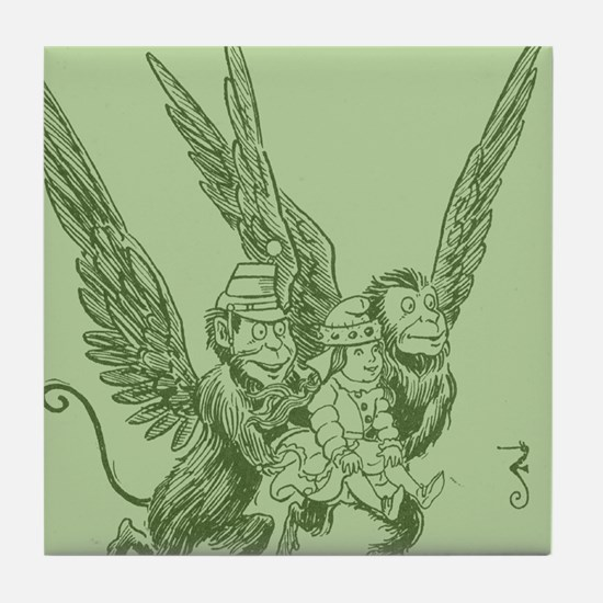 Oz Winged Monkeys Tile Coaster